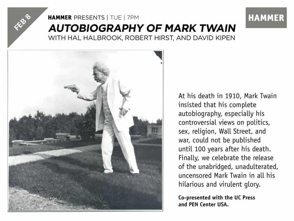 Mark Twain at the Hammer Museum