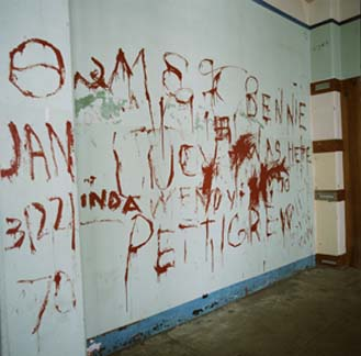 "Steve Fritz, ""Graffiti in the Prison Chapel"""