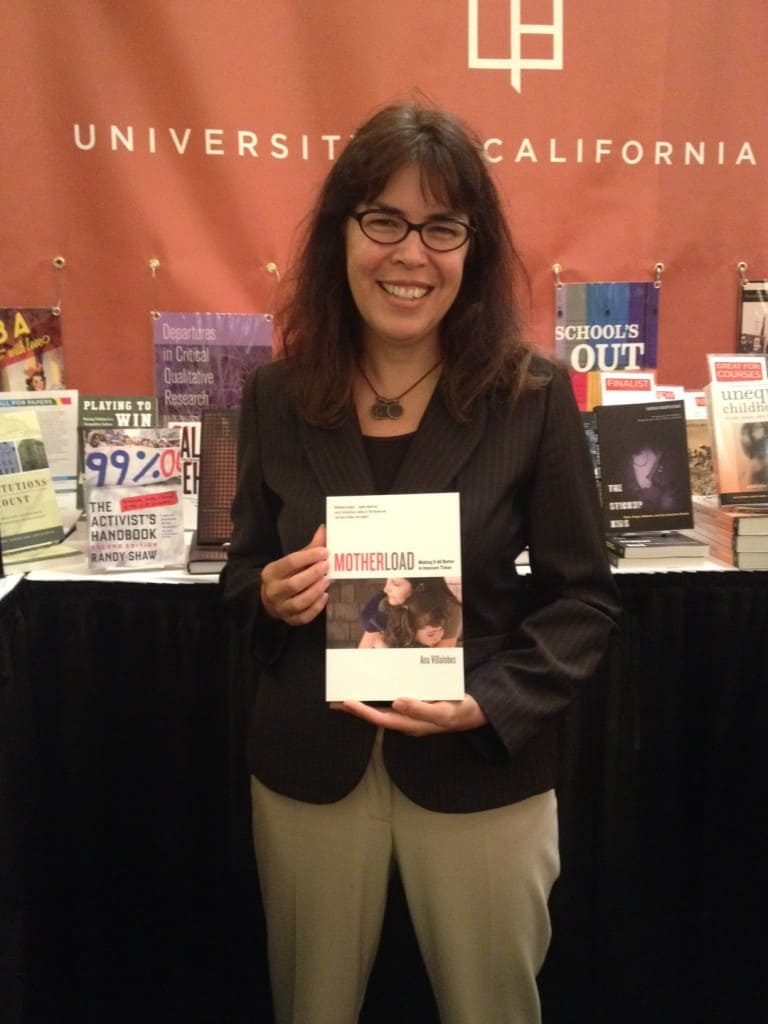 Ana Villalobos with her new book, Motherload Making It All Better in Insecure Times
