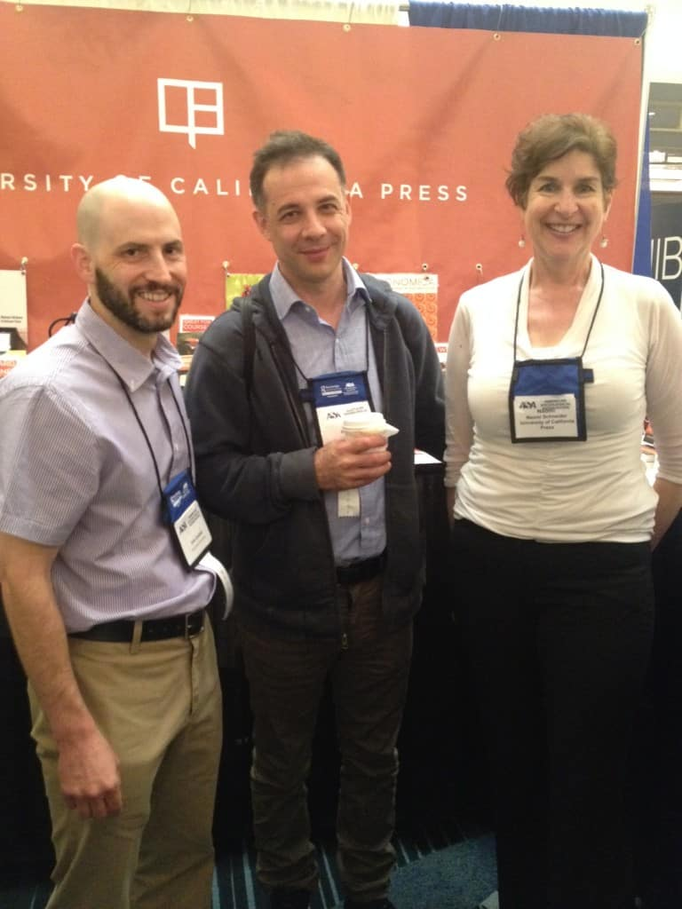 UC Press authors John Iceland (L) and Dalton Conley with Executive Editor Naomi Schneider