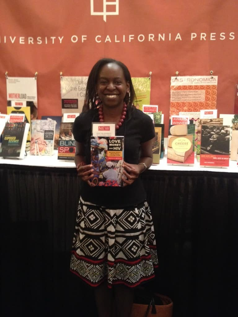 Sanyu A. Mojola with her new book, Love, Money, and HIV: Becoming a Modern African Woman in the Age of AIDS