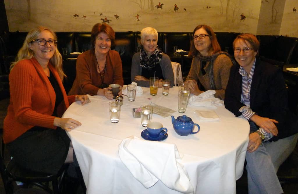 From left to right: Kim Robinson, editorial director; Valerie Jenness, author; Leslie Davisson, marketing manager; Kitty Calavita, author; Maura Roessner, senior editor