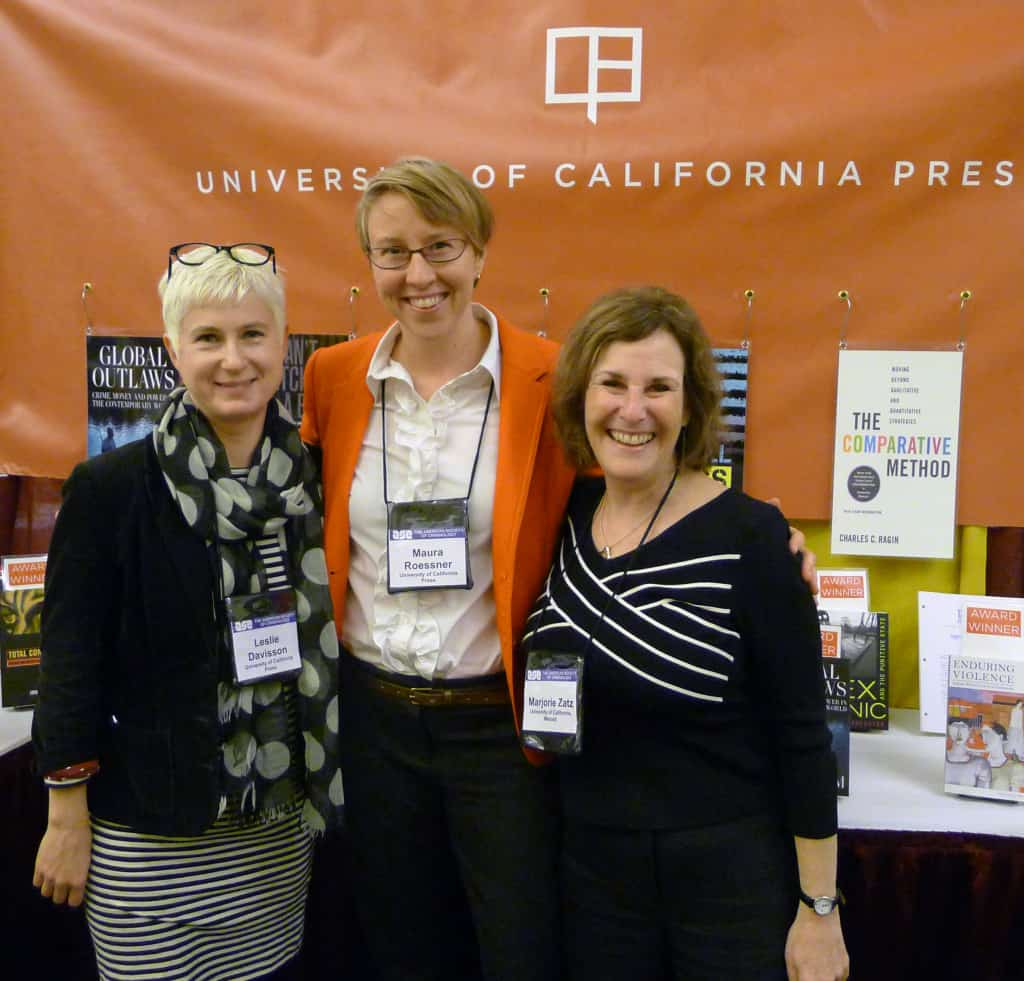 From left to right: Leslie Davisson, marketing manager; Maura Roessner, senior editor; Marjorie Zatz, author of Dreams and Nightmares