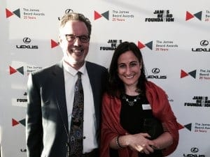 Amy Bentley with husband Brett Gary at the James Beard Awards.