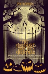 Theatrical poster for The Nightmare Before Christmas, (1993).