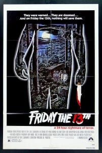 Theatrical poster for Friday the 13th (1980).