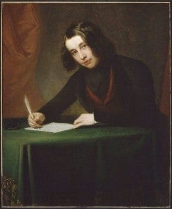 A portrait of Dickens in 1842 (Francis Alexander).