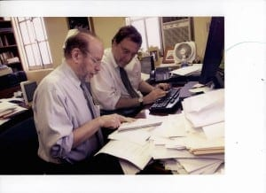 Gerald Markowitz and David Rosner at work