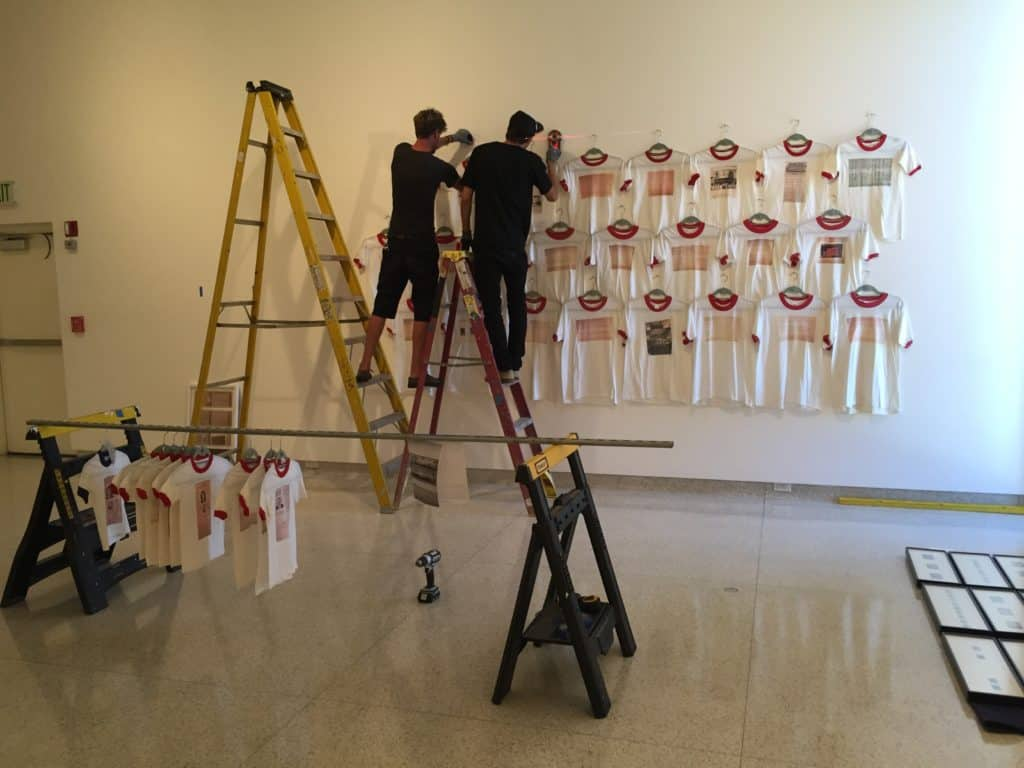 Exhibition install