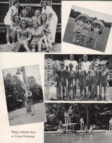 """""""Happy summer days at Camp Greentop."""" Page from Maryland League for Crippled Children 1939 Annual Report. Source: National Archives."""