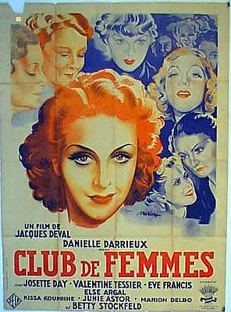 """Poster for Club de femmes (1936)."" (From article)"