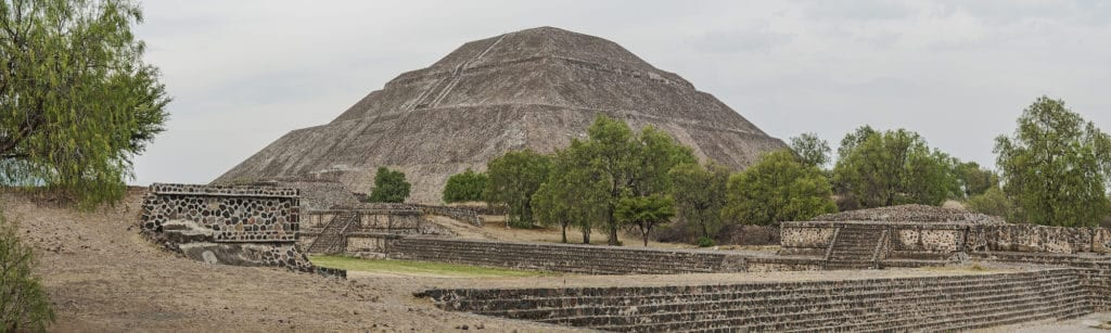 Photograph of Sun Pyramid at Teotihuacan for International Archaeology Day
