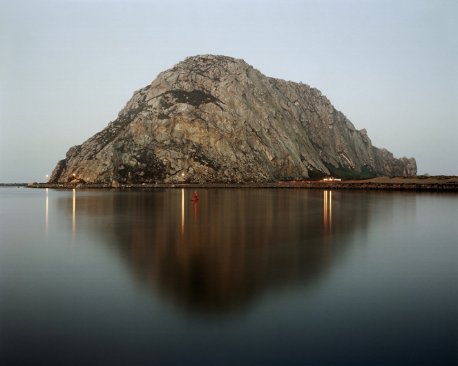 <p>Morro Bay Rock at dawn, Morro Bay, 2007</p>
