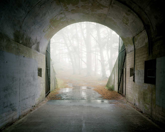<p>Tunnel access to Gun Battery 129. Fort Baker, Marin Headlands, 2009.</p>