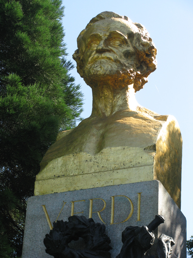 <p>Image 2. Sculpture of Verdi in Golden Gate Park; erected by the Italian community of San Francisco in 1914. (Photo by Alan Miller. Used by permission.) Book reference: p. 2</p>