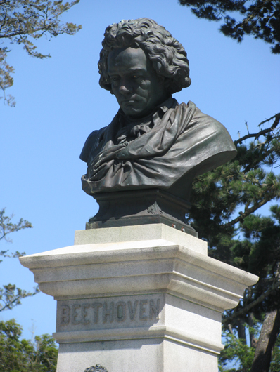<p>Image 3. Sculpture of Beethoven in Golden Gate Park; erected by the German community of San Francisco in 1915. (Photo by Alan Miller. Used by permission.) Book reference: p. 2</p>