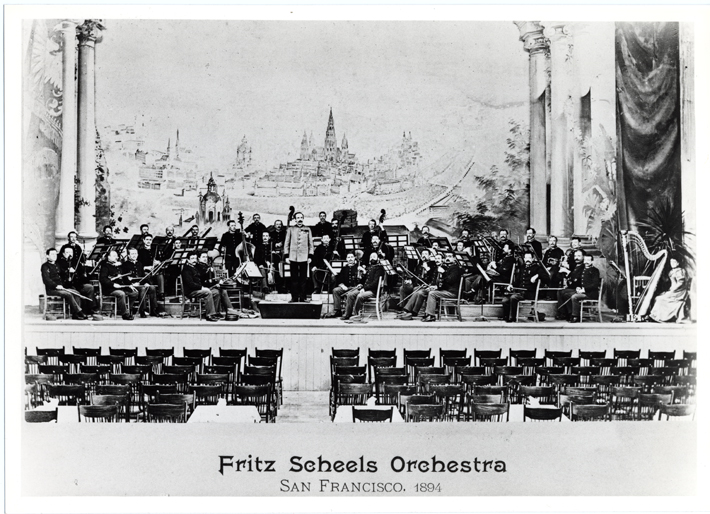 <p>Image 4. Fritz Scheel conducts his Imperial Vienna Prater Orchestra at the 1894 Midwinter International Exposition held in Golden Gate Park. (Courtesy of the San Francisco Museum of Performance and Design). Book reference: p. 33</p>