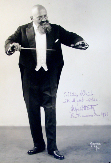 <p>Image 7. Photo of the San Francisco Symphony&rsquo;s second conductor, Alfred Hertz, 1930. (Courtesy of the Jean Hargrove Music Library, University of California, Berkeley.) Book reference: p. 57.</p>