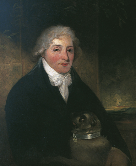 <p>Fig. 35. James Hutchinson, portrait of Venanzio Rauzzini with his dog Turk, ca. 1795. (c) Holbourne Museum of Art, Bath (A 169). Reproduced by permission.</p>