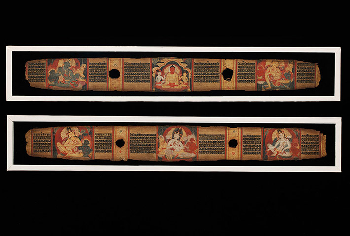 <p>Web 5-1 Folios 1v&ndash;2r, AsP Ms (Ms D3), Rāmapāla&rsquo;s 36th year (ca. 1113 CE), Victoria and Albert Museum IS4.1958-IS5.1958. &copy; Victoria and Albert Museum, London.</p>