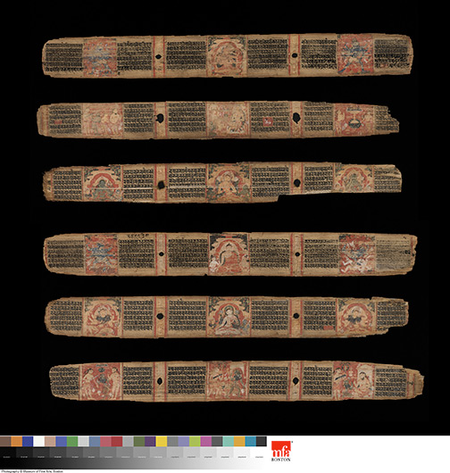 <p>Web 5-2 Illustrated folios (from top to bottom: 95r, 206r, 1v, 94v, 2r, 205v), AsP Ms (Ms D4), ca. 1136 CE, Museum of Fine Arts, Boston, Acc. 20.589. Photograph &copy; 2013 Museum of Fine Arts, Boston.</p>