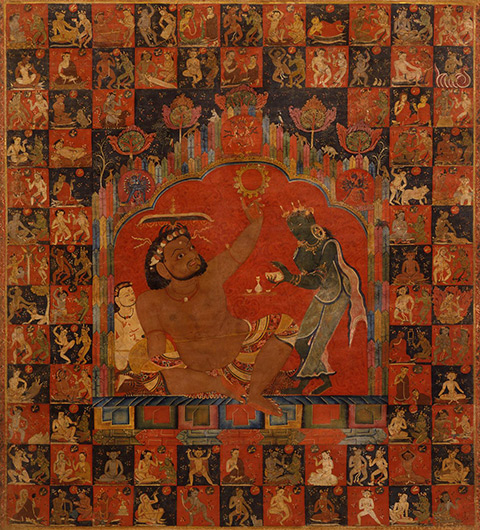 <p>Web 5-3 Virupa, central Tibet (Sakya monastery), consecrated by Sakya Paṇḍita (ca. 1182&ndash;1251 CE), the Kronos Collection. Image Courtesy of Steven Kossak.</p>