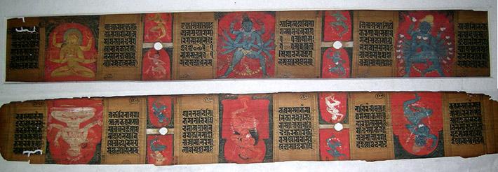 <p>Web 5-7 Folios 141v&ndash;142r, AsP Ms (Ms D10), Lakṣmaṇasena&rsquo;s 47th year (ca. 1226 CE), Bharat Kala Bhavan, BHU, Varanasi</p>