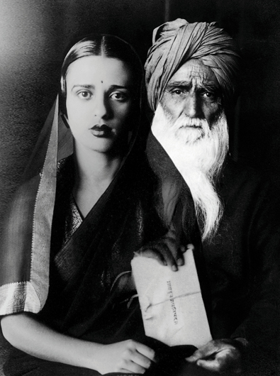 "<p><em>Father-Daughter</em> (Umrao Singh, Simla, mid-1940s; Amrita, Simla, 1937), from the series ""Re-Take of Amrita,"" 2001 – 2002. Courtesy of the artist and sepia EYE, New York</p>"