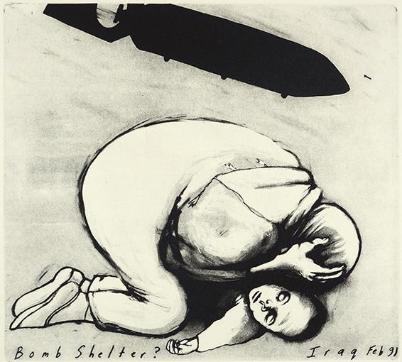 <p>Sue Coe, <em>Bomb Shelter?,</em> 1991.&nbsp;Copyright &copy; 1991 Sue Coe. Courtesy Galerie St. Etienne, New York.</p>