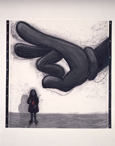 <p>Enrique Chagoya<em>, When Paradise Arrived</em>, 1988.&nbsp;Courtesy of the artist and the di Rosa Collection.</p>