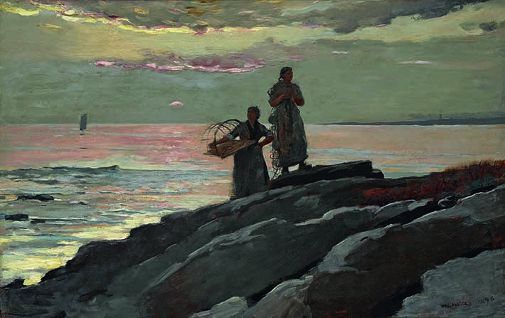 <p>Winslow Homer (American, 1836-1910) &#39;Saco Bay,&#39; 1896. Oil on canvas. 23 7/8 x 38 in. Sterling and Francine Clark Art Institute, Williamstown, Massachusetts</p>