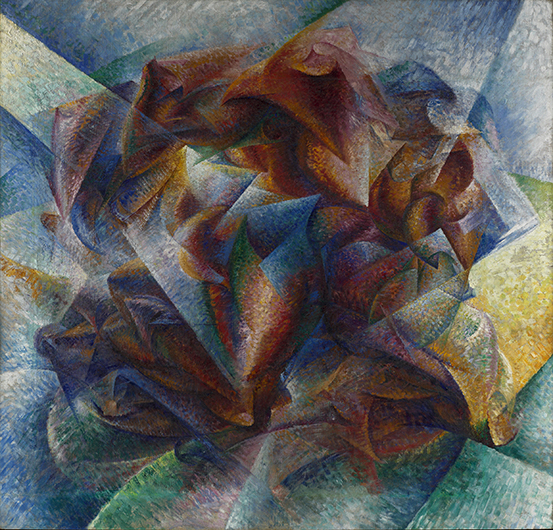 <p>Umberto Boccioni (Italian, 1882&ndash;1916), &#39;Dynamism of a Soccer Player,&#39; 1913. Oil on canvas. 76 &times; 79 1/8 in. Museum of Modern Art, New York, The Sidney and Harriet Janis Collection</p>