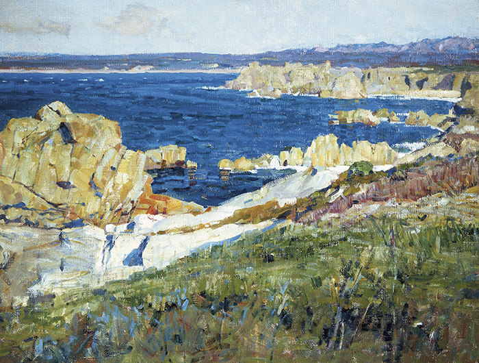 <p>Bruce Nelson (American, 1888&ndash;1952), &#39;The Summer Sea,&#39; ca. 1914. Oil on canvas. 30 &times; 40 in. Irvine Museum, California. Courtesy of the Irvine Museum</p>