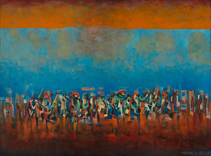 <p>Title Unknown (March on Washington), 1965<br /> Oil on fiberboard, 35 1/4 x 47 1/2 in.<br /> L. Ann and Jonathan P. Binstock<br /> &copy; Estate of Norman W. Lewis; Courtesy of Michael Rosenfeld Gallery LLC, New York, NY</p>