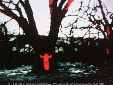 <p>Ana Mendieta<br /><em>Energy Charge</em>, 1975<br />16mm film, color, silent</p>