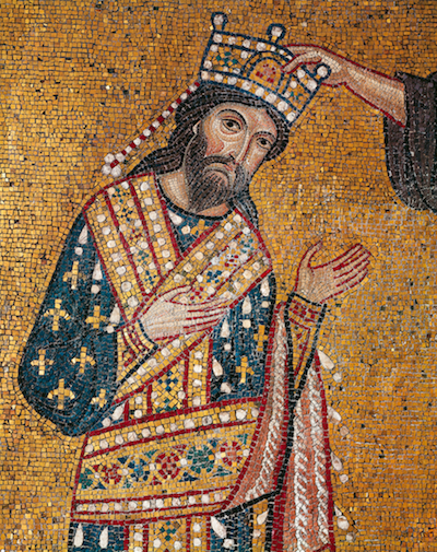 <p>Mosaic of Roger II from Palermo. Courtesy De Agostini Picture Library/A. Dagli Orti.</p>