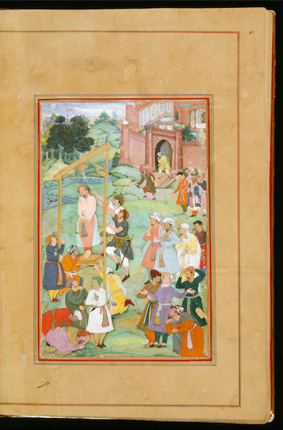 <p>Execution of Hallaj by Mughal artist Amir Najm al-Din Dihlawi. Courtesy of the Walters Art Museum, Baltimore.</p>