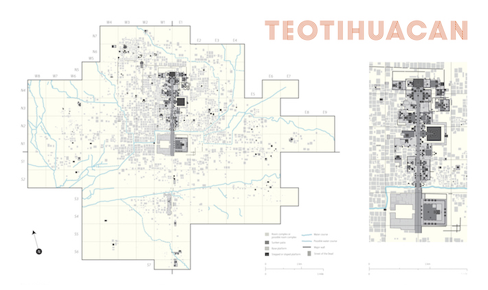 <p>Site map of Teotihuacan<br /> Composed by Hilary Olcott<br /><br /> Image courtesy of the Fine Arts Museums of San Francisco</p>
