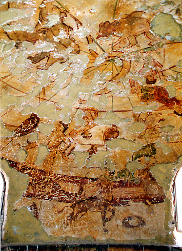 <p>Figure 10. Qusayr &#39;Amra, caldarium, dome: zodiac (fresco). C. Vibert-Guigue.</p>